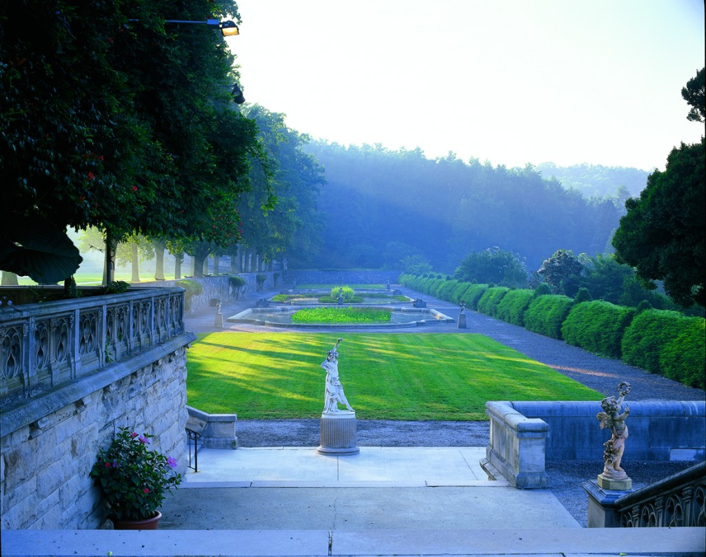 "The Italian Garden is one of a series of outdoor ""rooms"" Landscape Architect Frederick Law Olmsted designed in the formal gardens surrounding Biltmore House. Copyright 2007 The Biltmore Company, all rights reserved."